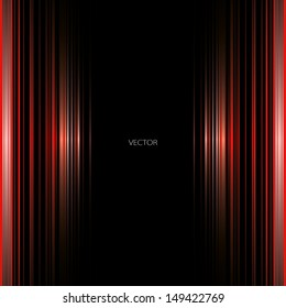 Light rhythm. Abstract background. Red. Perspective