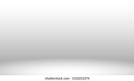 light room studio backdrop abstract white and gray background with copy space
