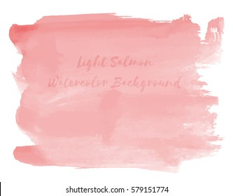 Light Salmon Watercolor Background