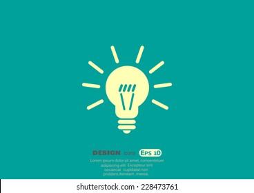 light sign ideas, web icon. vector design