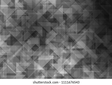 Light Silver, Gray vector abstract mosaic abstract mosaic. Geometric illustration in Origami style with gradient.  A completely new design for your business.