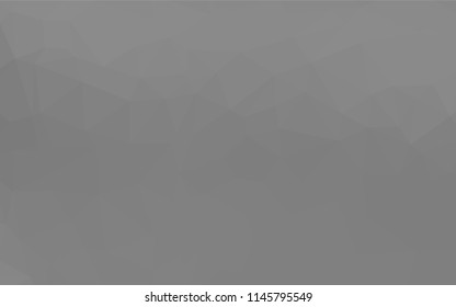 Light Silver, Gray vector abstract mosaic background. A completely new color illustration in a vague style. A completely new template for your business design.