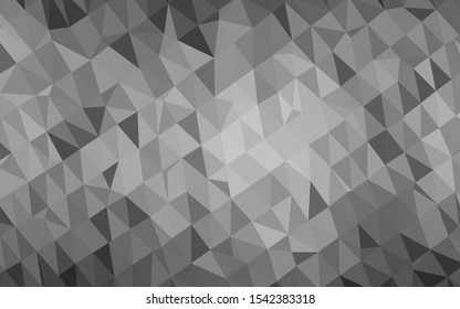 Light Silver, Gray vector abstract mosaic background. A sample with polygonal shapes. Brand new style for your business design.