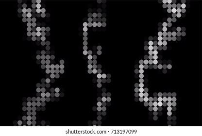 Light Silver, Gray vector abstract pattern with circles. Geometry template for your business design. Background with colored spheres.