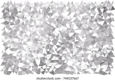 Light Silver, Gray vector abstract mosaic background. Modern geometrical abstract illustration with gradient. The completely new template can be used for your brand book.