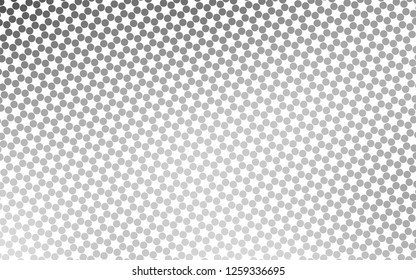 Light Silver, Gray vector background with bubbles. Illustration with set of shining colorful abstract circles. Design for business adverts.