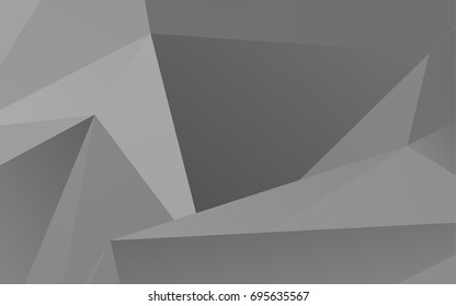 Light Silver, Gray vector blurry triangle pattern. A completely new color illustration in a vague style. The polygonal design can be used for your web site.