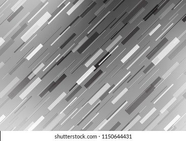 Light Silver, Gray vector cover with long lines. Shining colored illustration with narrow lines. The pattern can be used for websites. - Shutterstock ID 1150644431
