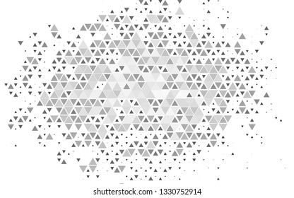 Light Silver, Gray vector cover in polygonal style. Triangles on abstract background with colorful gradient. Modern template for your landing page.
