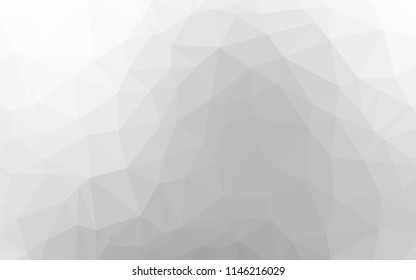 Light Silver, Gray vector hexagon mosaic template. An elegant bright illustration with gradient. The textured pattern can be used for background.