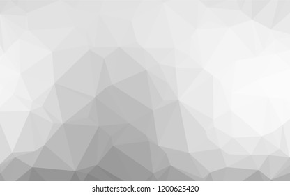 Light Silver, Gray vector hexagon mosaic template. Creative geometric illustration in Origami style with gradient. A new texture for your design.