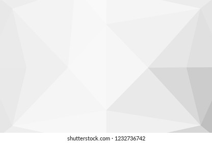 Light Silver, Gray vector hexagon mosaic cover. A sample with polygonal shapes. A new texture for your design.