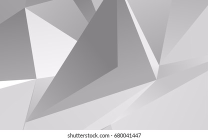 Light Silver, Gray vector low poly pattern. Modern geometrical abstract illustration with gradient. The completely new template can be used for your brand book.