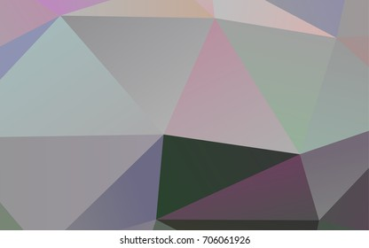 Light Silver, Gray vector polygon abstract background. Glitter abstract illustration with an elegant design. The polygonal design can be used for your web site.