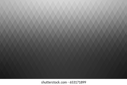 Light Silver, Gray vector polygonal illustration, which consist of rectangles. Rectangular pattern for your business design. Geometric background in Origami style with gradient.