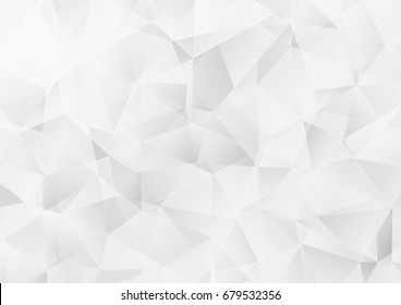 Light Silver, Gray vector polygonal template. Colorful abstract illustration with gradient. A completely new design for your business.
