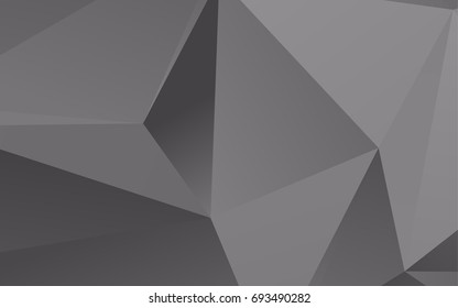 Light Silver, Gray vector polygonal pattern. A sample with polygonal shapes. The polygonal design can be used for your web site.