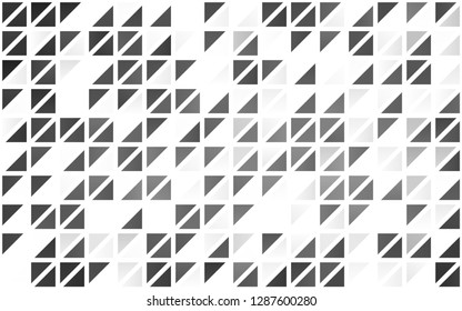 Light Silver, Gray vector seamless pattern in polygonal style. Modern abstract illustration with colorful triangles. Template for business cards, websites.