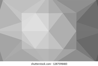 Light Silver, Gray vector shining hexagonal pattern. Colorful abstract illustration with gradient. The elegant pattern can be used as part of a brand book.