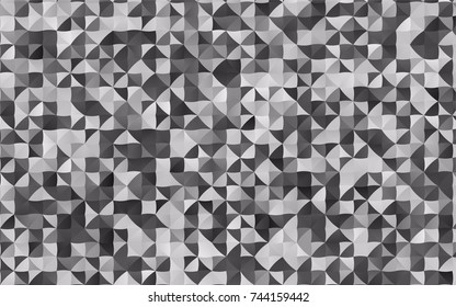 Light Silver, Gray vector shining triangular background. Colorful illustration in abstract style with gradient. Triangular pattern for your business design.