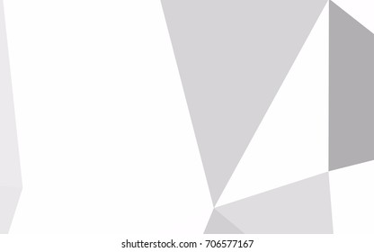 Light Silver, Gray vector of small triangles on white background. Illustration of abstract texture of triangles. Pattern design for banner, poster, cover.