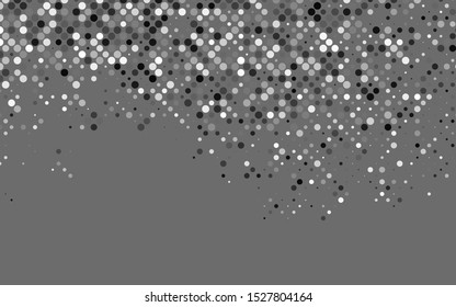 Light Silver, Gray vector texture with disks. Glitter abstract illustration with blurred drops of rain. Pattern for beautiful websites.