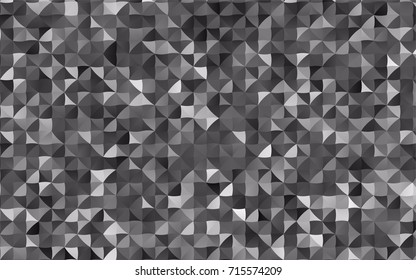 Light Silver, Gray vector triangle mosaic background. Shining illustration, which consist of triangles. Triangular pattern for your business design.