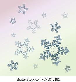 Light snowflake background