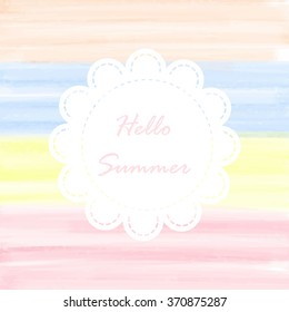 Light soft pink yellow blue orange love pastel background in valentine's day and summer