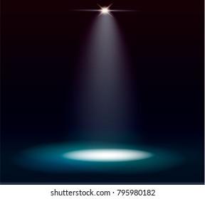 light spotlight. effects. vector glow. illustration
