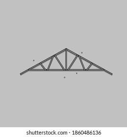 Light steel roof truss, vector design