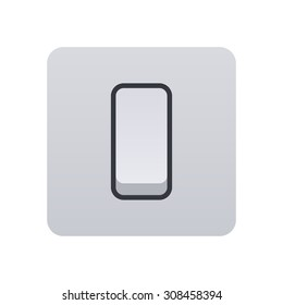 Light switch icon, modern minimal flat design style, vector illustration