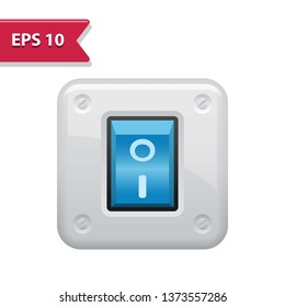 Light Switch Icon. Professional, pixel-aligned icon in realistic colors.