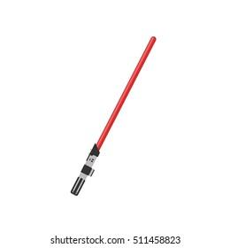 Light Sword. Flat Lightsaber. Light Futuristic Sword