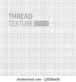 Light Thread fabric texture, vector illustration