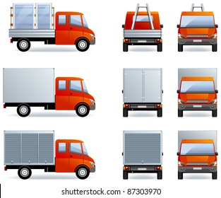 Light truck (Set #14)  in vector .   Optimized approximately to 166 x 90