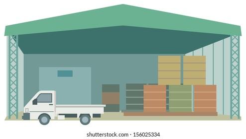 Light trucks and warehouse
