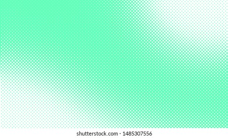 Light turquoise pop art background with dots design, abstract vector illustration in retro comics style