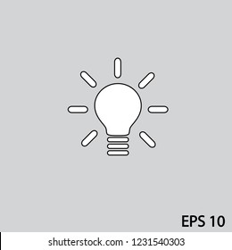 Light vector icon,eps10 format.
