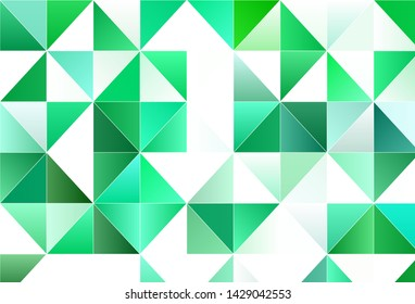 Light vector template with crystals, triangles. Glitter abstract illustration with triangular shapes. Pattern for commercials.
