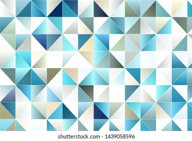 Light vector template with crystals, triangles. Beautiful illustration with triangles in nature style. Pattern for websites.