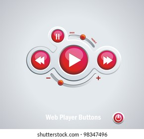 Light  Web Elements: Buttons, Switchers, Player, Audio