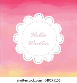 Light white pink love pastel background in winter