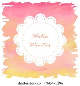 Light white pink orange yellow love pastel background in winter