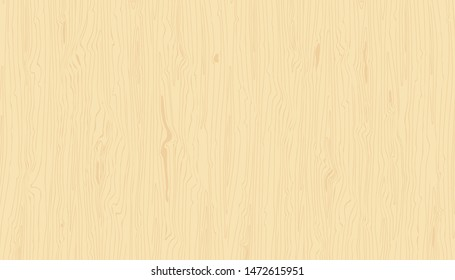 Light wood texture. Vector wooden background. Hand drawn natural grained pattern