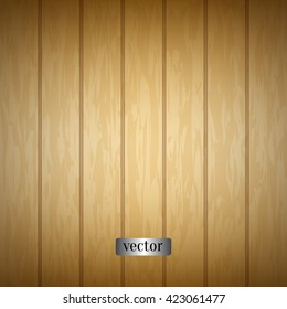 Light wood texture with woodgrain. Natural wooden background. Pine wood, ash wood, oak wood, cherry wood. Top view. Vector planks.