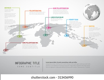 Light world map pointer marks communication vector de stock219048088 light world map with pointer marks communication concept gumiabroncs Gallery