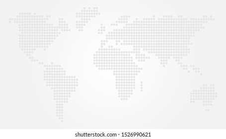 Light World Map Vector Illustration Design with Circles