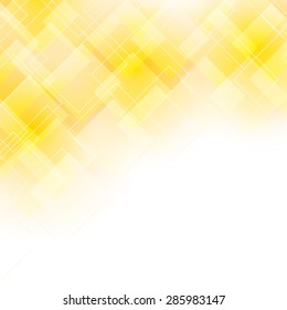 light yellow background with transparent shapes