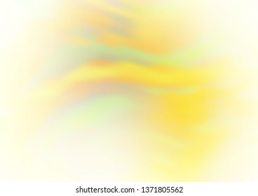 Light Yellow, Orange vector bokeh pattern. Modern geometrical abstract illustration with gradient. The background for your creative designs.